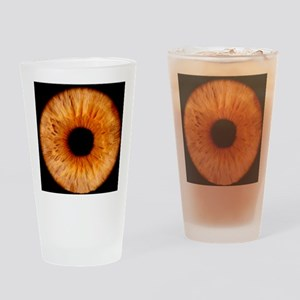 Computer-enhanced brown iris of the Drinking Glass