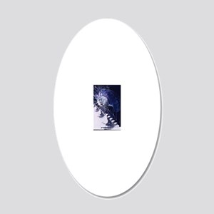 Conceptual art of brain 20x12 Oval Wall Decal