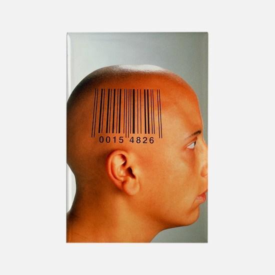Consumer society: bar code printe Rectangle Magnet