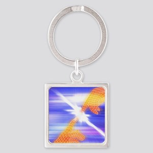 Creation Square Keychain