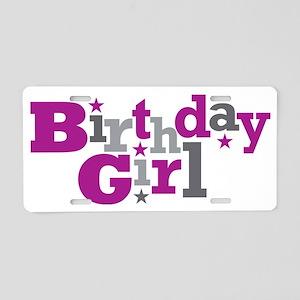 Purple Birthday Girl Aluminum License Plate
