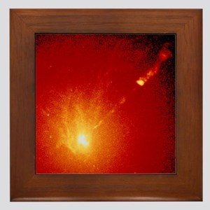 Core and optical jet of galaxy M87 Framed Tile