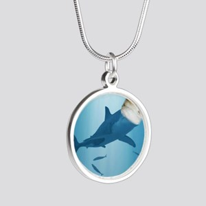 The Corgi Shark and the Baco Silver Round Necklace