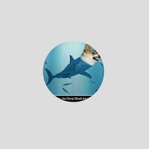 The Corgi Shark and the Bacon Fish Mini Button