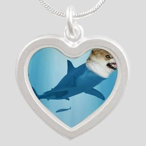 The Corgi Shark and the Baco Silver Heart Necklace