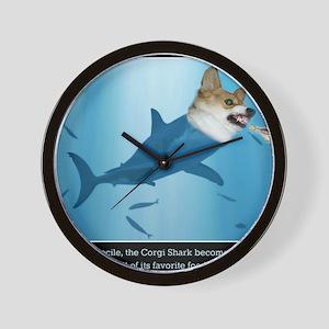 The Corgi Shark and the Bacon Fish Wall Clock