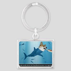 The Corgi Shark and the Bacon F Landscape Keychain