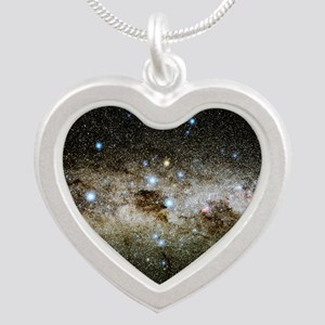 Crux constellation Silver Heart Necklace