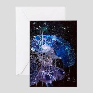 Conceptual art of brain Greeting Card