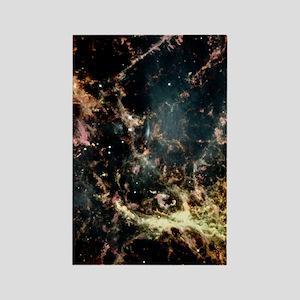 Crab nebula gas filaments Rectangle Magnet
