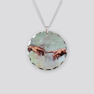 Creation of Adam Necklace Circle Charm