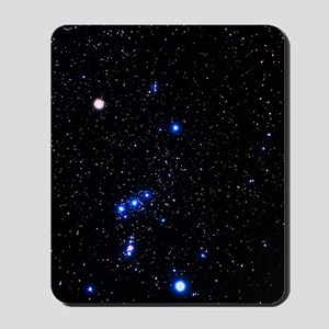 Constellation of Orion with halo effect Mousepad