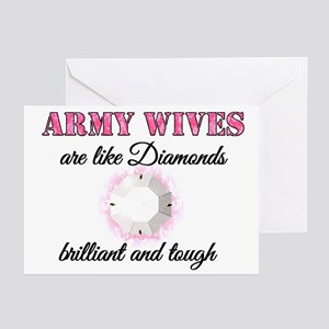 Army Wives are like Diamonds Greeting Cards (Packa