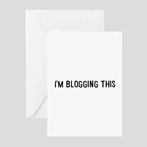 I'm blogging this Greeting Cards (Pk of 10)