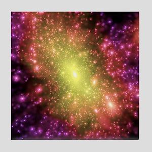 Dark matter distribution Tile Coaster