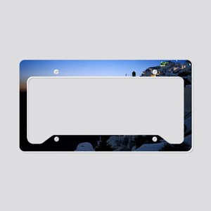 Crescent moon with earthshine License Plate Holder