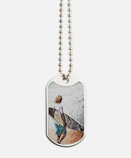surfer dude Dog Tags