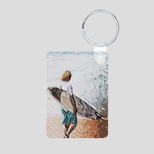 surfer dude Aluminum Photo Keychain