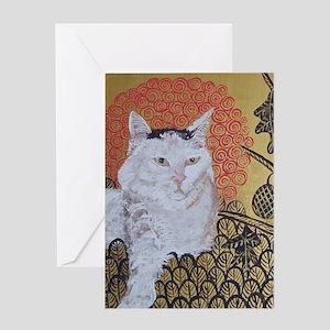 5x7 Klimt Cat Greeting Card