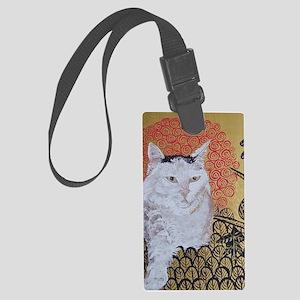 5x7 Klimt Cat Large Luggage Tag