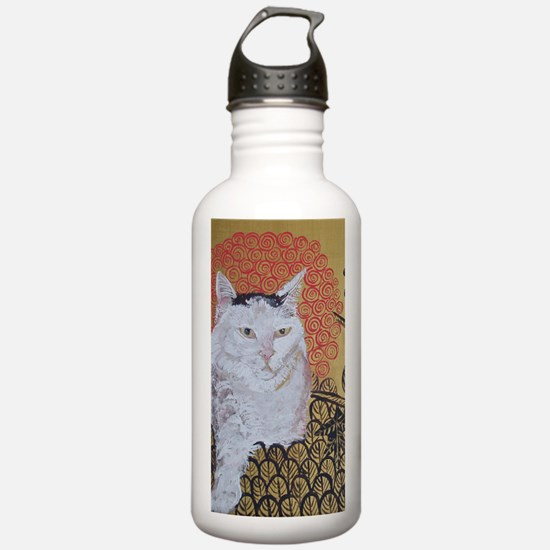 5x7 Klimt Cat Water Bottle