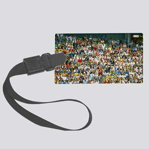 Crowd of spectators Large Luggage Tag