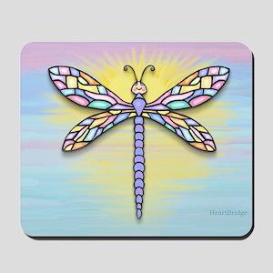 Dragonfly1B-pastel-Sun-rec Mousepad