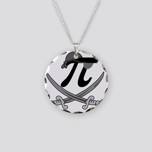 Pi - Rate Greyscale Necklace Circle Charm