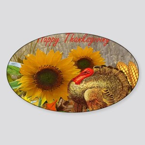 Thanksgiving Holiday Sticker (Oval)