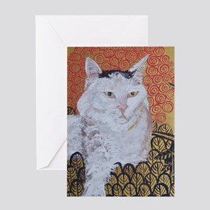 Journal Klimt Cat Greeting Card