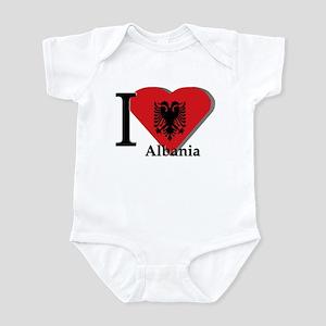 I love Albania Infant Bodysuit