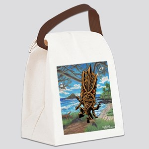 Dancing down the trail Tiki Canvas Lunch Bag