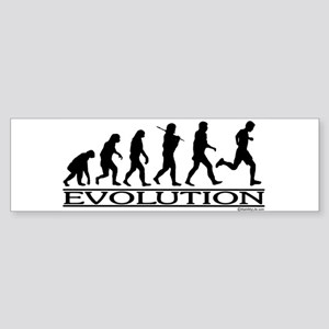 Evolution (Man Running) Bumper Sticker