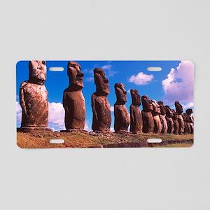 Easter Island statues Aluminum License Plate