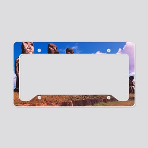 Easter Island statues License Plate Holder