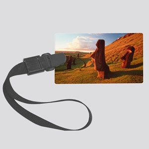 Easter Island statues Large Luggage Tag