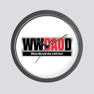 WW the CAO D Wall Clock