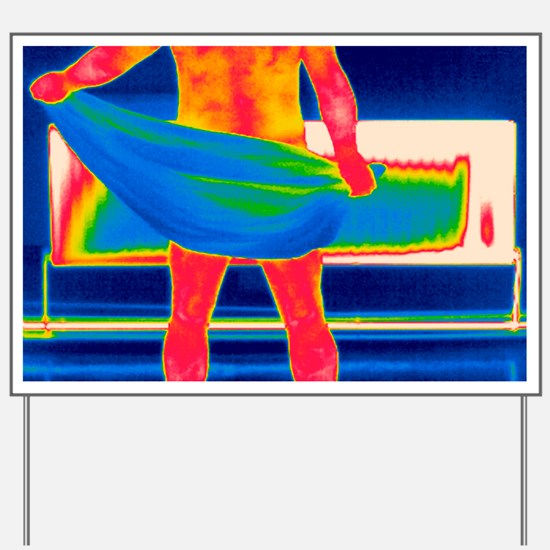 Drying off, thermogram Yard Sign