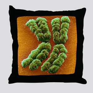 Doubled chromosome, SEM Throw Pillow