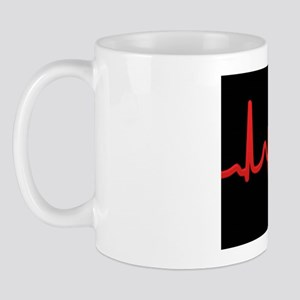 ECG and red blood cell Mug