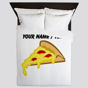 Custom Pizza Slice Queen Duvet