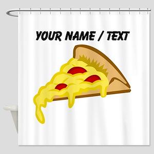 Custom Pizza Slice Shower Curtain