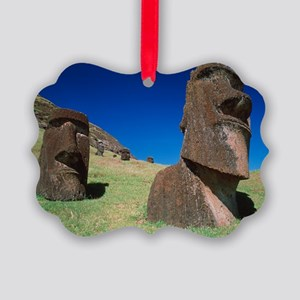 Easter Island statues Picture Ornament