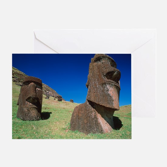 Easter Island statues Greeting Card