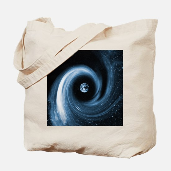 Earth in a black hole, artwork Tote Bag