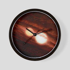 Eclipsing binary star system Wall Clock
