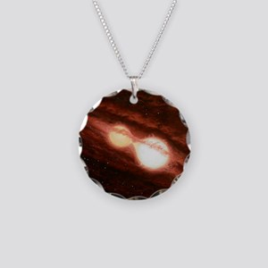 Eclipsing binary star system Necklace Circle Charm