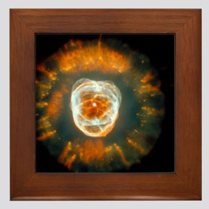 Eskimo nebula Framed Tile