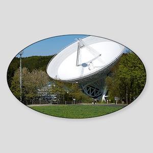 Effelsberg radio telescope Sticker (Oval)