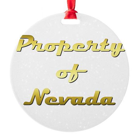 Property Of Nevada Female Round Ornament
